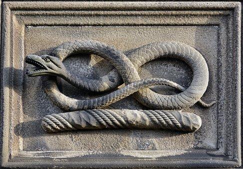 Snake, Sculpture, Stone, Carving, Symbol, Decoration