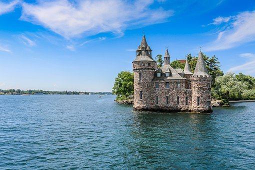 Waters, Architecture, Travel, Sky, River, Castle, Usa