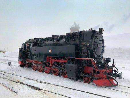 Motor, Transport, Railway Line, Train, Steam, Rail