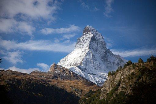 Mountain, Travel, Panoramic, Landscape, Sky, Matterhorn