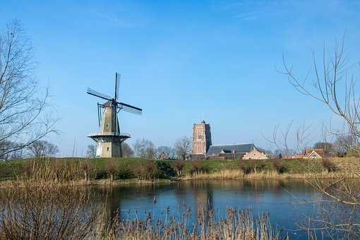 Body Of Water, Wind Mill, The Dome Of The Sky, River