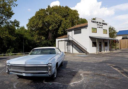 Limousine, Auto, Pkw, Us Car, Light Blue, Classic