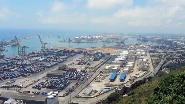 Port, Barcelona, Boats, Goods, Catalonia, Mediterranean
