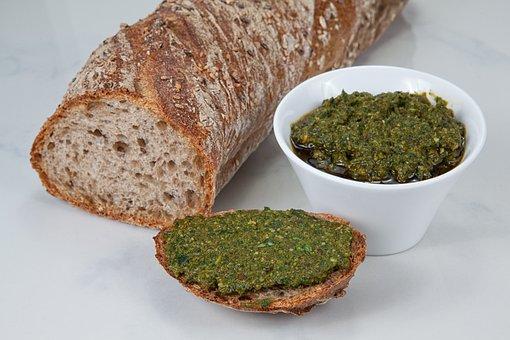 Pesto, Bärlauch-basil-pesto, Bear's Garlic, Basil