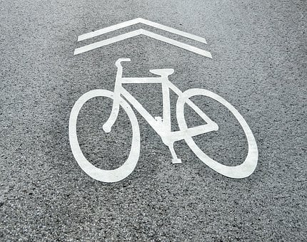 Bike Sign, Symbol, Share The Road, Street, Bicycle
