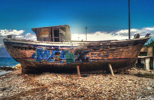 Ship, Boat, Hdr, Sea, Old, Vessel, Ocean