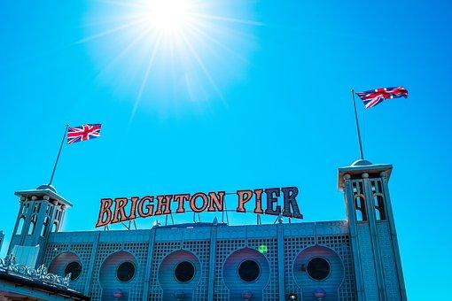 Sky, Brighton Pier, Travel, Travel To Europe