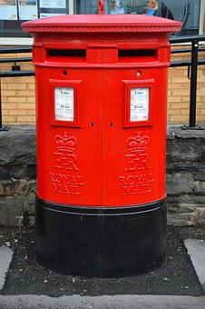 Mail Box, Post Box, Red, Double, British, Letterbox