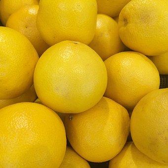 Grapefruit, Import, California, Fruit, Yellow