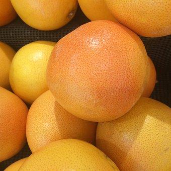 Grapefruit, Import, California, Fruit, Yellow, Pink