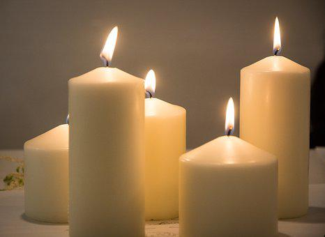 Candles, Light, White, Bright, Clam, Burn, Spa
