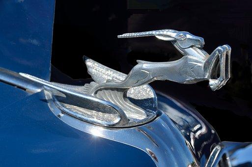 Hood Ornament, Vintage, Design, Style, Ornament, Car