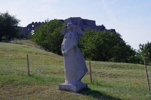 Devín, Bratislava, Slovakia, Castle, The Statue Of