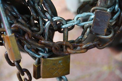 Chains, Lock, Shackle, Security, Padlock, Protection