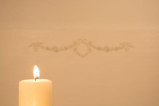 Candle, Light, White, Bright, Clam, Burn, Spa