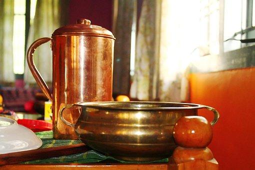 Copper Vessel, Copper, Water Jug, Copper Jug, Brass Pot
