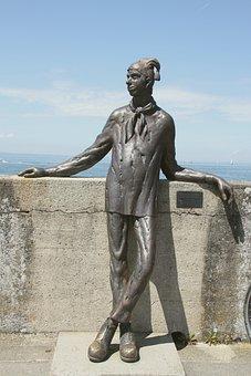 Figure, Funny, Statue, Bronze, Sculpture, Dammglonker