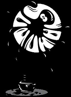 Ink, Design, Octopus, Animal, Splash, Artistic, Cartoon