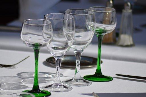 Restaurant, Table, Dishes, Restaurant Table