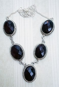 Garnet, Quartz, Necklace, Crystal, Faceted, Stone