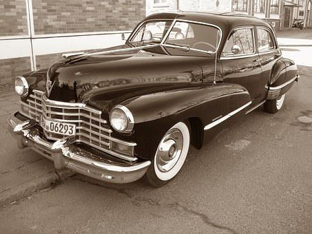 Oldtimer, Cadillac, Classic, Automotive, Grille, Chrome