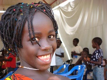 Girl, African, Guinea, Africa, Bissau, Black, Child