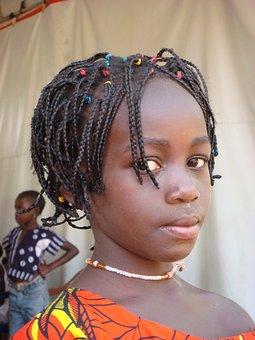 Girl, Child, African, Beautiful, Hair, Natural, Guinea