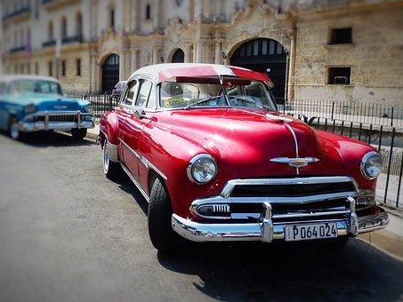 Havana, Cuba, Auto, Oldtimer, Classic, Crom, Summer
