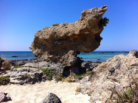 Rock, Sea, Paradise, Holiday, Beach, Sky, Sand