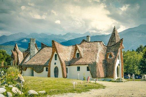 Village, Landscape, Rural, Nature, House, Mountain