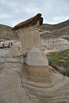 Hoodoo, Alberta, Drumheller, Landscape, Rock, Sky