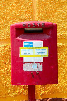 Post, Mailbox, Letters, Red, Letter Boxes