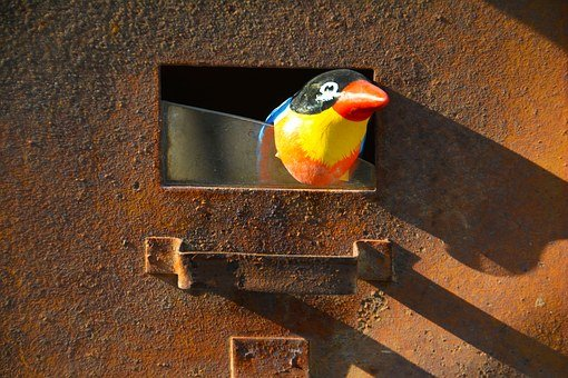 Rust, Letterbox, Bird, Old, Letter, Box, Mailbox, Post