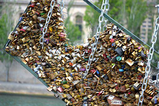 Love Locks, Locks Of Love, Paris Locks, Lock, Padlock