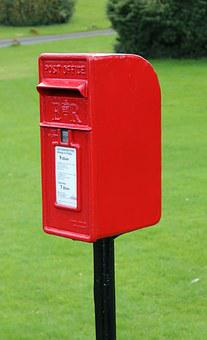 Post Box, Red, Post, Box, Mail, Letter, England