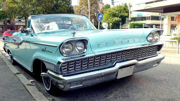 Mercury, Auto, Classic, Oldtimer, Vehicle, Rarity