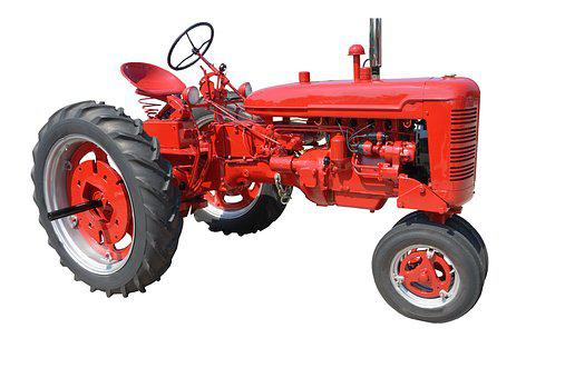 Old, Red, Tractor, Nostalgia, Antique, Retro, Vintage