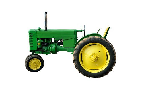 Green Tractor, Antique, Restored, Agriculture, Old