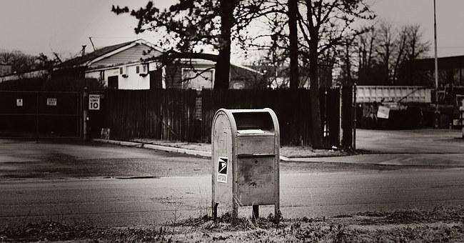 Mailbox, Urban, Black And White, Mail, Outdoors, Postal