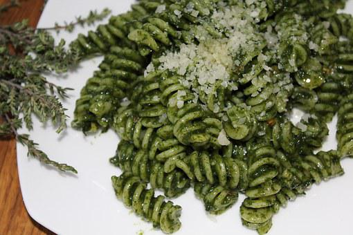 Green, Pasta, Food, Tasty, Cooking, Homemade