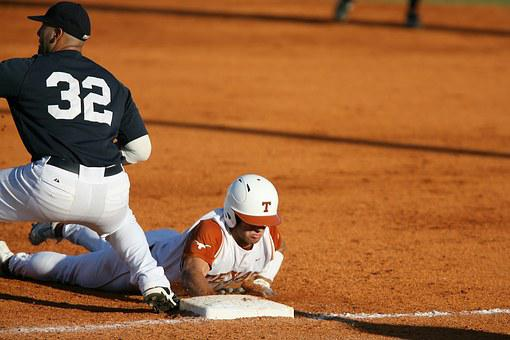 Baseball, Safe At First, Pick Off, Baseball Players