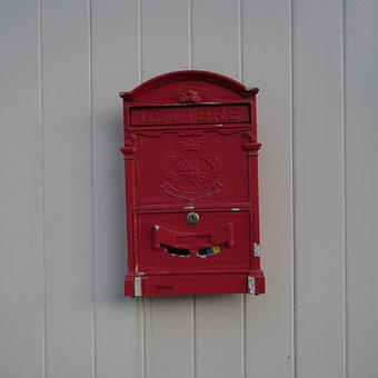 Mailbox, Red, Post, Email, Letters, Message, Delivery