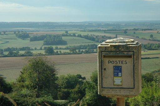 Mailbox, Post, Letter Boxes, France, Rural, Village