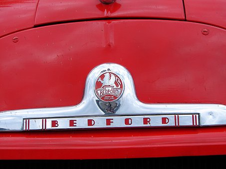 Bedford, Car, Old, Vintage, Red, Fire, Classic Car