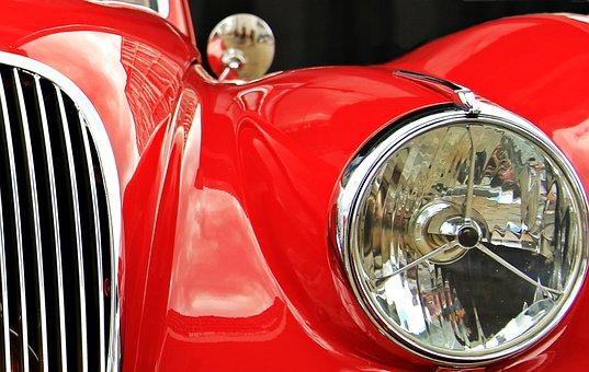 Jaguar, Oldtimer, Red, Auto, Classic, Automotive
