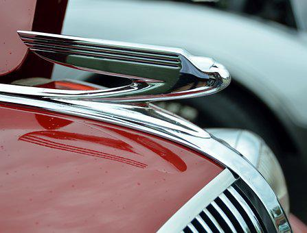 Vintage, Hood Ornament, Car, Automobile, Retro, Chrome