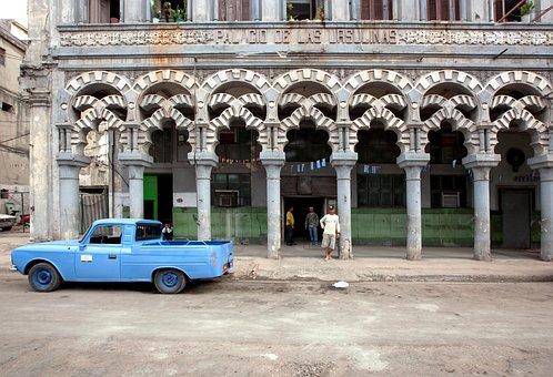 Cuba, Havana, Auto, Oldtimer, Crom, Classic, Retro