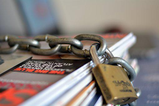 Chained Magazines, Safe, Steel, Paper