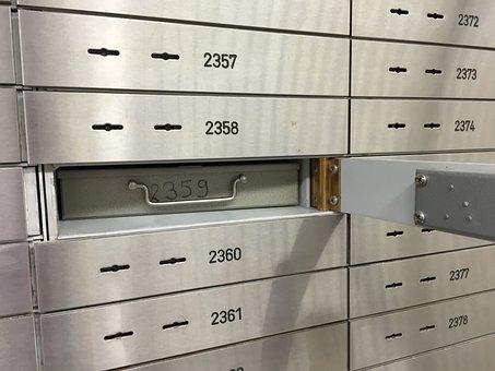 Safe, Bank, Safe Deposit Box, Security, Vault