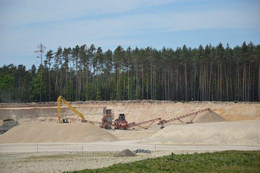 Sand, Quarry, Pískovna, Sand Sorting Plants, Technique